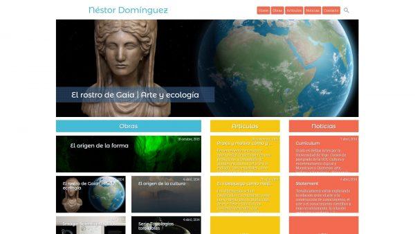 Web de arte, ciencia y ecología de Néstor Domínguez