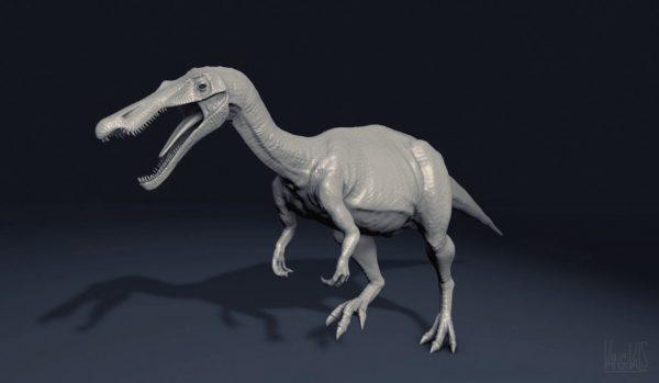 Modelo 3d de dinosaurio Baryonix realizado con Mudbox y Cinema 4D