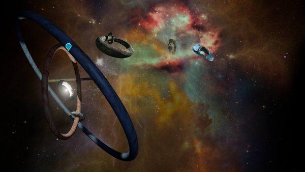 Captura de la pieza interactiva Cosmos