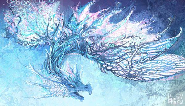 Dragón abstracto
