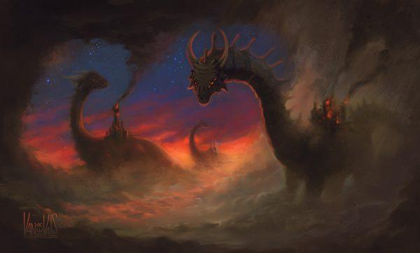 Dragones entre la niebla
