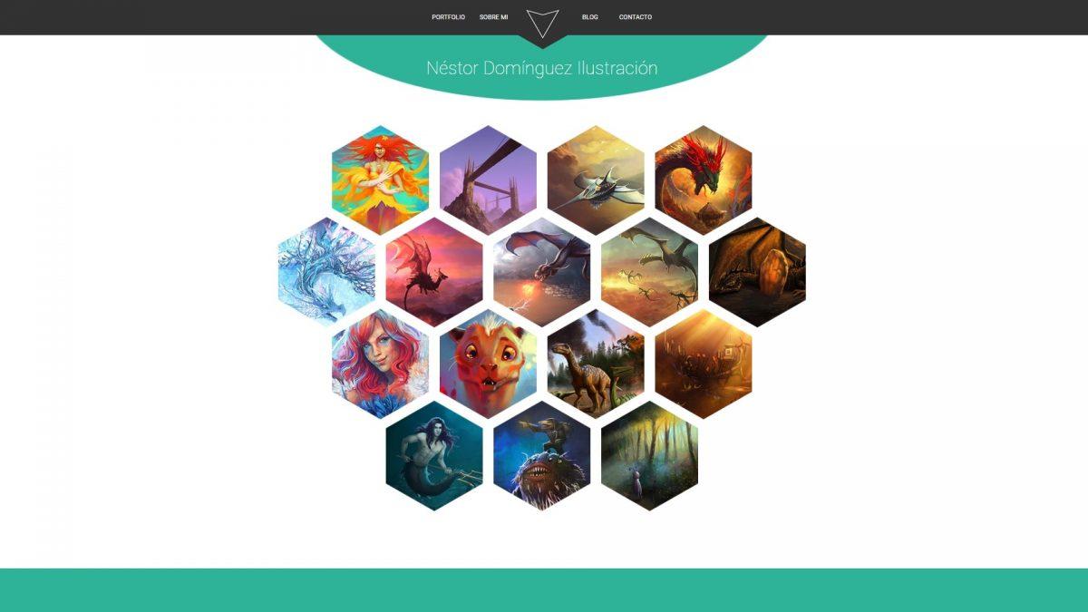 Practica de web con retícula hexagonal