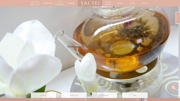 Portada de la web del centro de belleza SaiTei