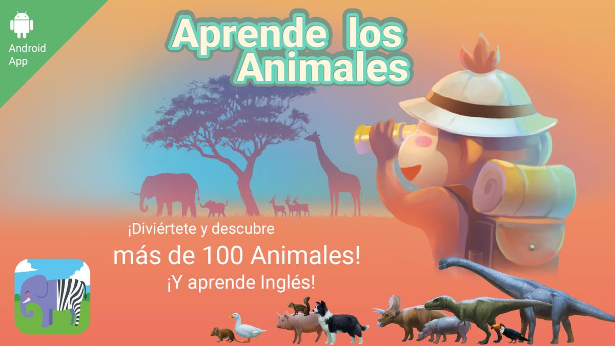 App de Aprende los animales: flyer.
