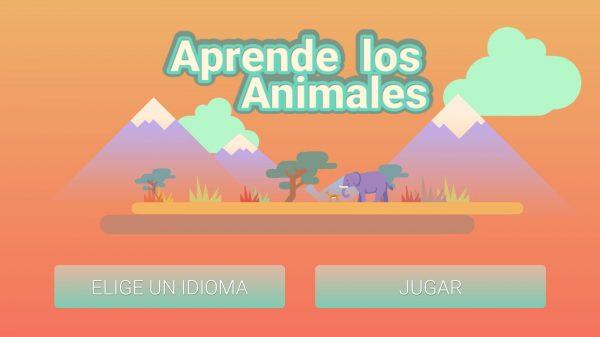 Portada de la App Aprende los animales
