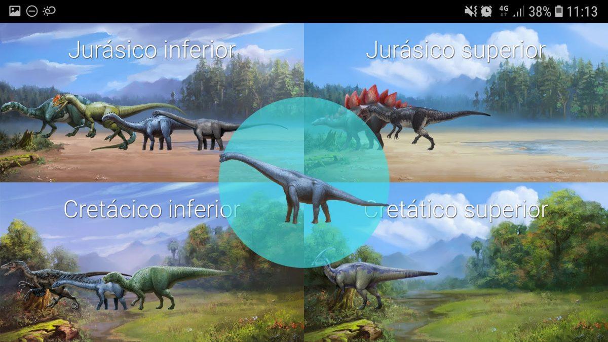 Enciclopedia de dinosaurios: periodos y eras.