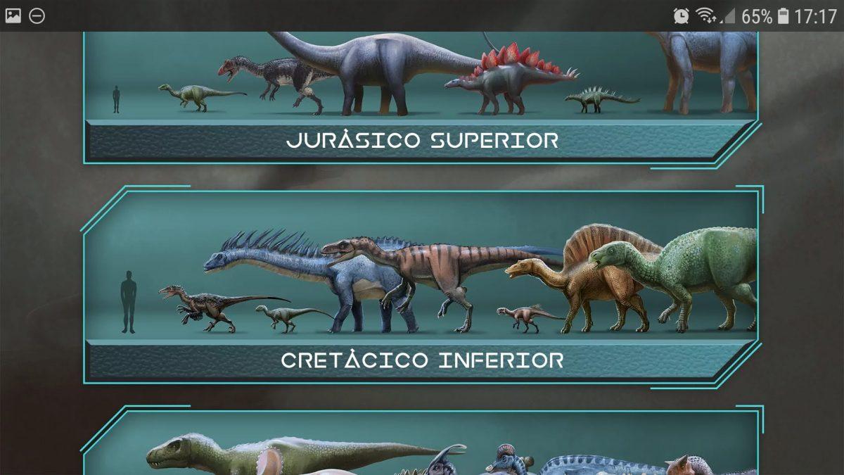 Enciclopedia de dinosaurios: dinosaurios y sus tamaños